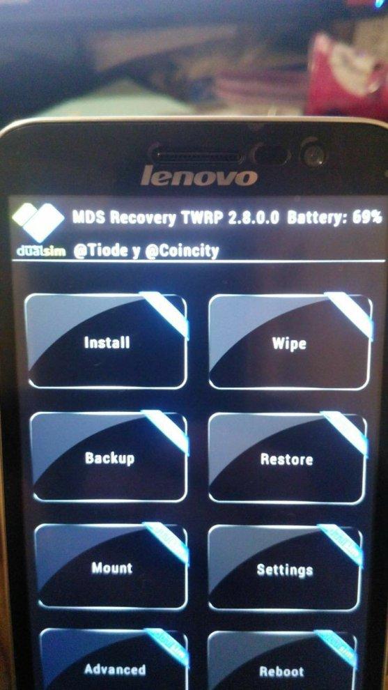 instalar um recovery no Lenovo A806