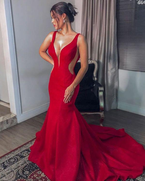 Vestido maravilhoso vermelho.
