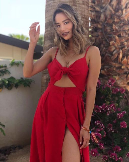 Vestido vermelho longo para festa.