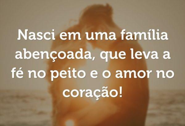 reflexao familia amor de coração