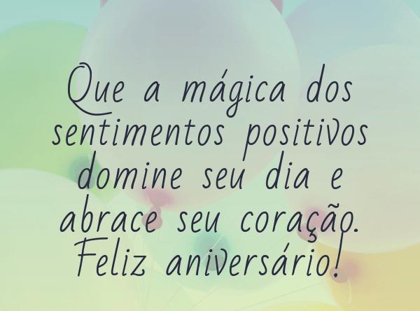 feliz aniversario com magia
