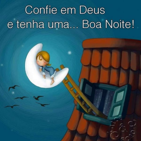 Frase de boa noite na confiança em Deus