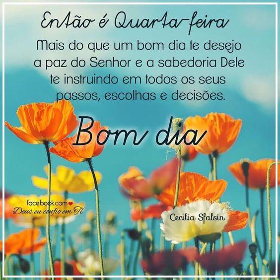 Te desejo a paz do Senhor