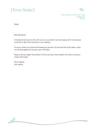 Personal letterhead template free download spiritdancerdesigns Images