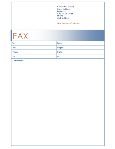 Exles Of Fax Cover Letters 8 Letter Template