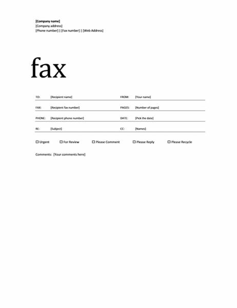 Lovely Fax Cover Letter Template For Word 2007 Your Page Doc Enom Warb