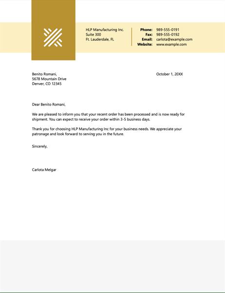 Business Letterhead Stationery Simple