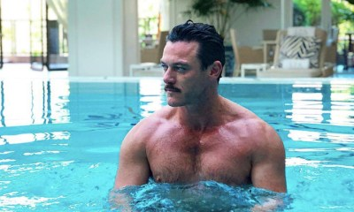 Luke Evans and Victor Turpin hung out shirtless and poolside in Italy