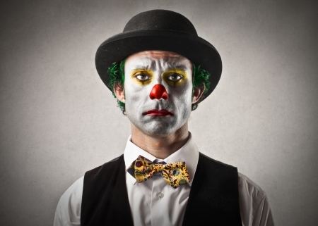 22756661 - sad bored clown