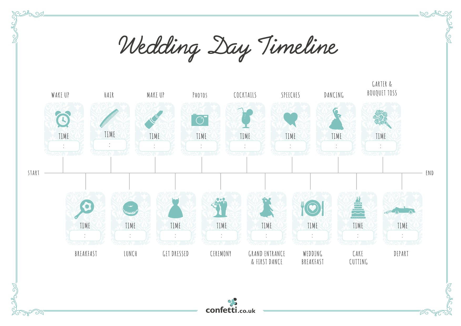 Wedding Day Timeline Planning Your Wedding Schedule Confetti