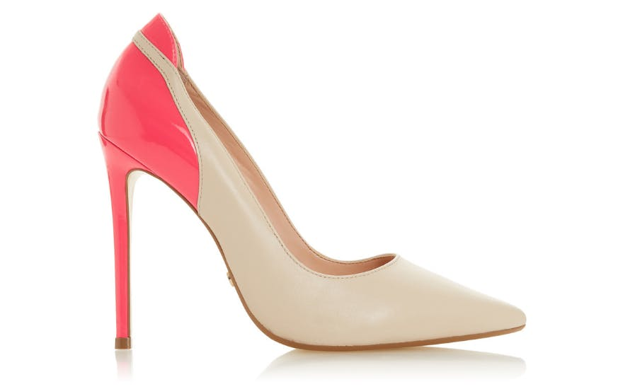 Pink and Nude High Heeled Wedding Shoes by Dune