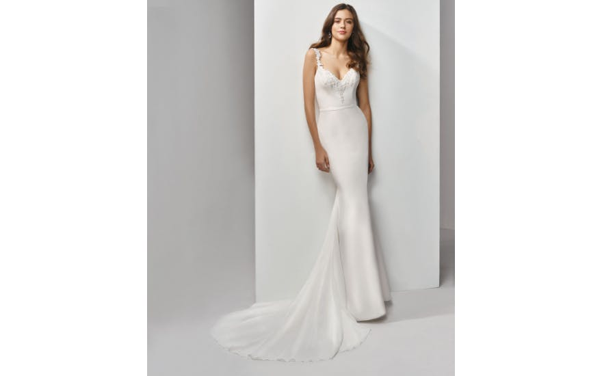Simple Floor Length Wedding Dress by Enzoani