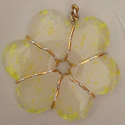 Small glass flower (mini) yellow