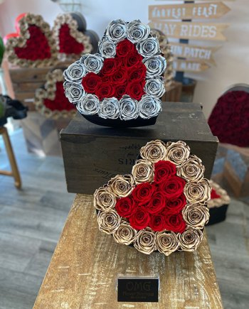 Valentines Forever Roses Small Heart