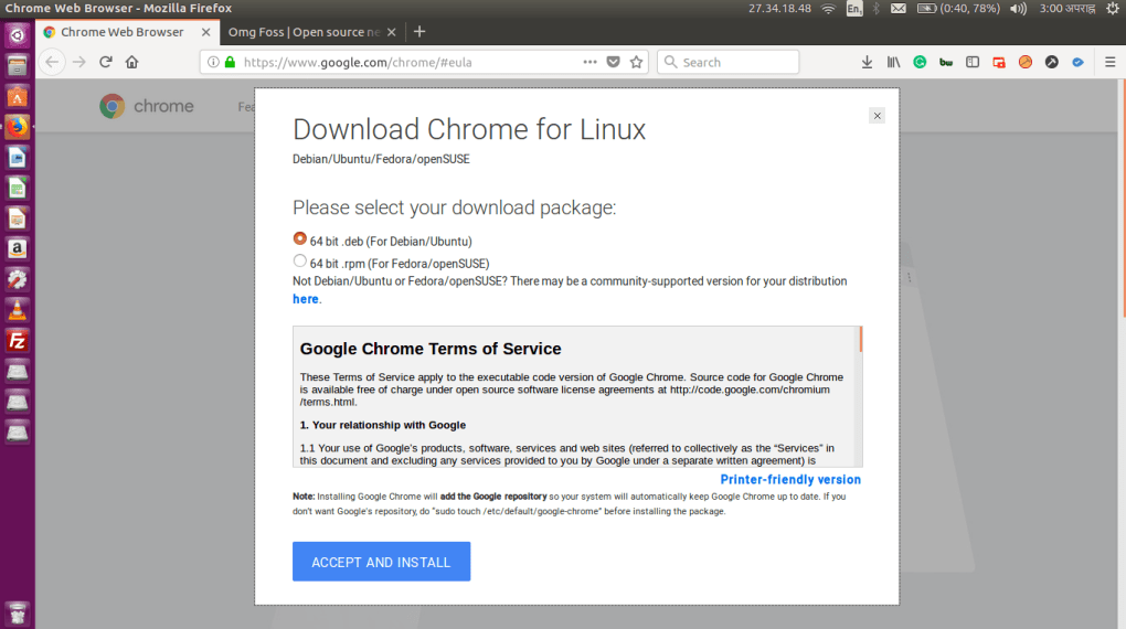 chrome ubuntu