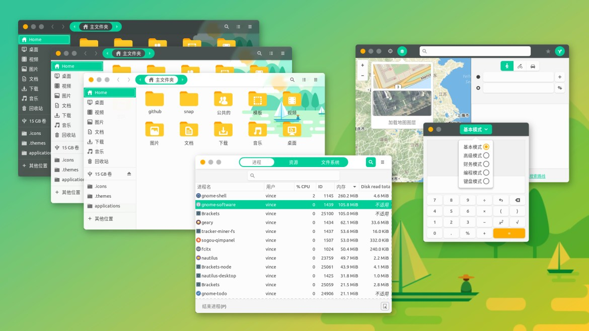 top gnome themes