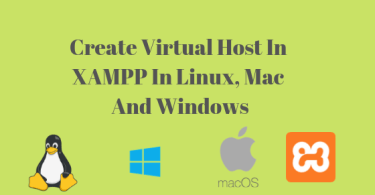 create virtual host in xampp