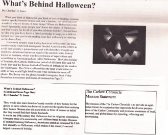 Jones, C. (2010) What's Behind Halloween. The Carlow Chronicle