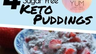 4 Amazing Sugar free, Dairy free Keto Puddings