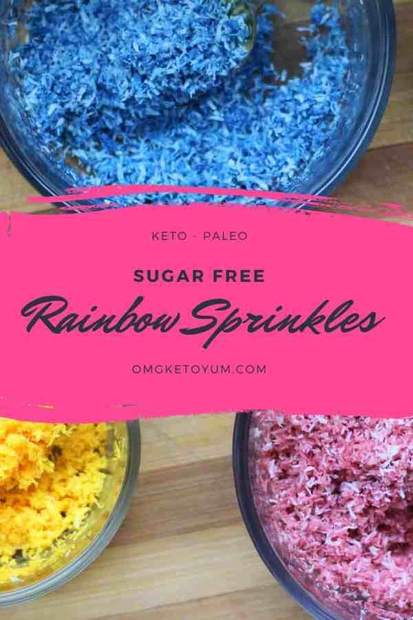 sugar free rainbow sprinkles