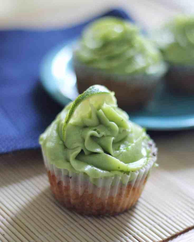 Key Lime Keto Cupcakes