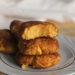 a stack of one carb keto snickerdoodle cookies