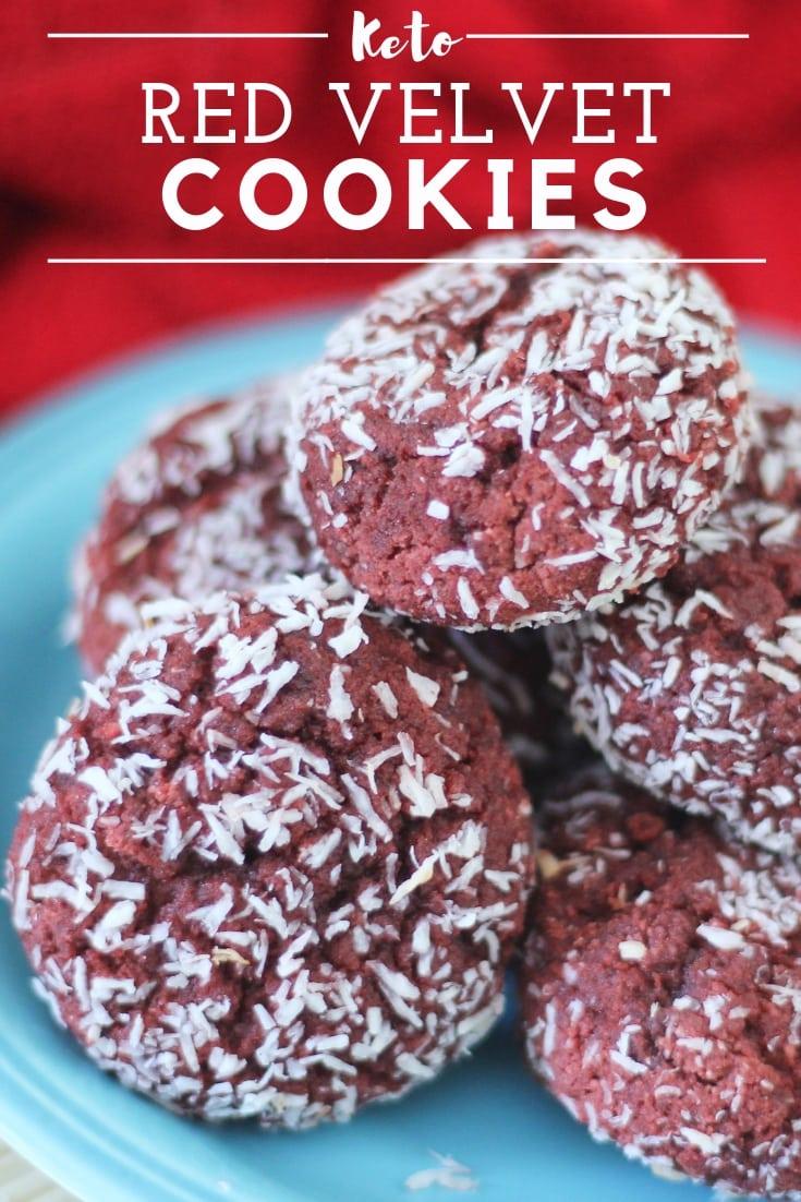Keto Red Velvet Cookies : Grain, Sugar and Dairy Free