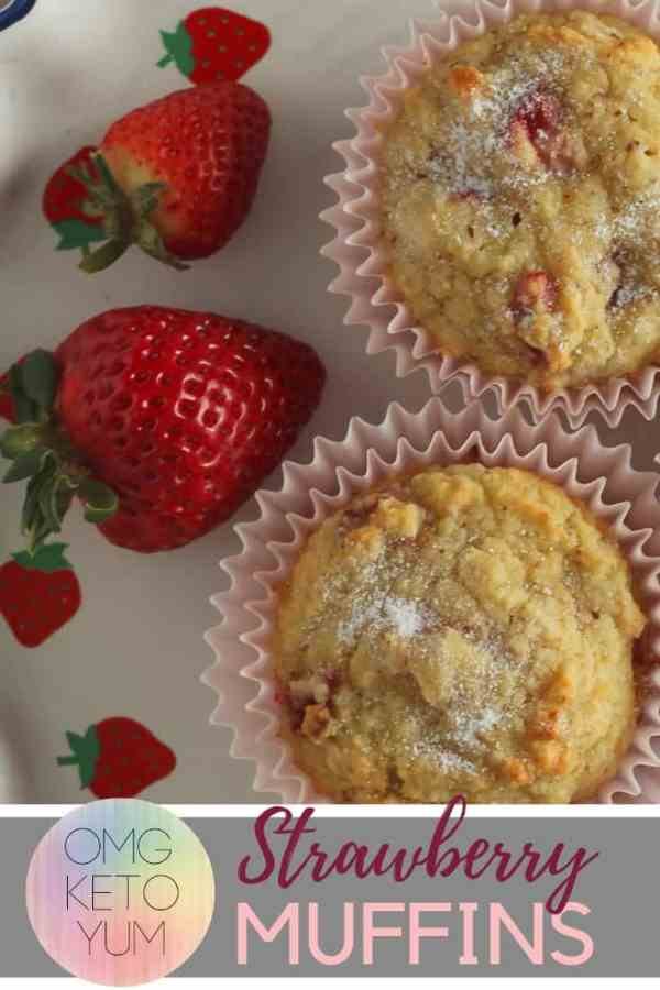 Strawberry muffins that are keto and delicious.