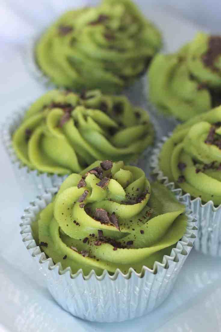 Mint Chocolate Keto Cupcakes