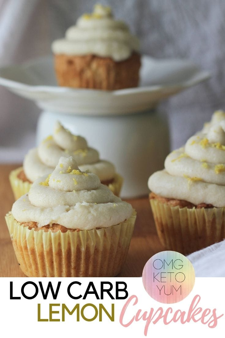 These Low carb Lemon Cupcakes are super low carb and delicious. Everyone will love these keto cupcakes with dairy free frosting.