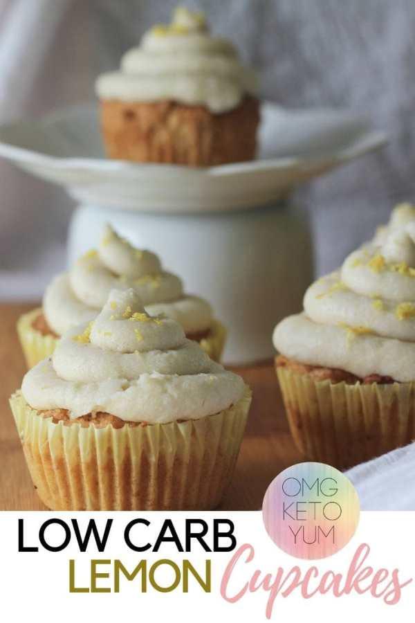 Low Carb Lemon Cupcakes with Dairy free frosting. Easy Low Carb Lemon Cupcakes.