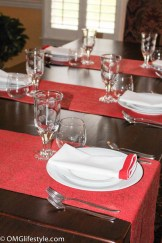 Casual Placesettings for Holiday Table