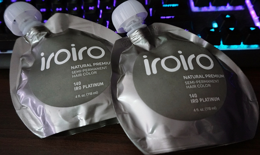 OMGluie Hair Dye Review: Iroiro Semi Permanent Hair Color in 140 Iro Platinum