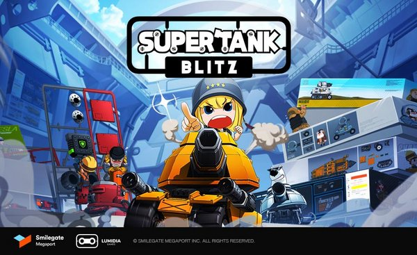 """Casual mobile sandbox game """"SUPERTANK BLITZ"""" now available for global pre-registration"""