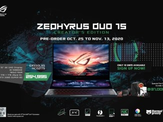 10 Limited Units Of ROG Zephyrus Duo 15 Creator's Edition Available Nationwide