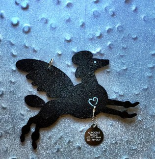Poodle Pet Angel Memorial