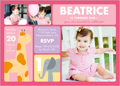 Cheap Invitations 1st Birthday