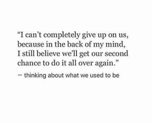 Quotes Chance Tumblr Second