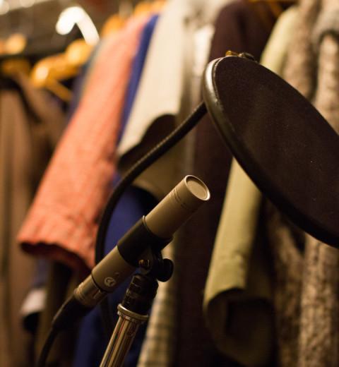 Clothes closet audio recording