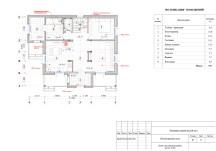 План первого этажа с расстановкой мебели