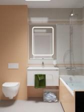 Вид на ванную комнату прямо со входа