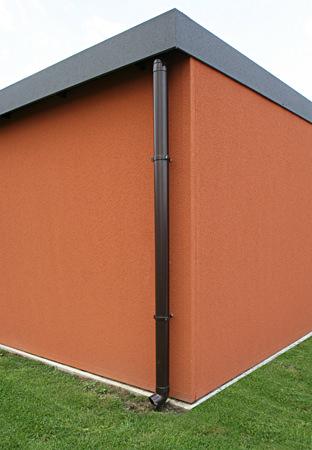 entwaesserung bei stahlgaragen omicroner garagen. Black Bedroom Furniture Sets. Home Design Ideas