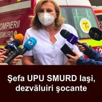 """ULTIMA ORA! Şefa UPU SMURD Iaşi, dezvăluiri şocante despre lupta cu Covid-19. """"Se poate și mai rău. Mai multe ore am ventilat manual un pacient"""