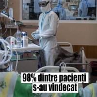Cel mai eficient spital din România în tratarea cazurilor grave de COVID-19. 98% dintre pacienți s-au vindecat