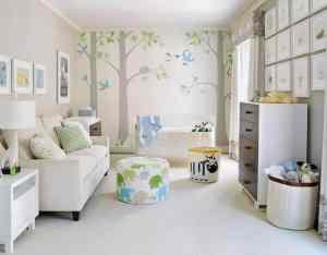 otroška soba slikopleskar barva stene ideje
