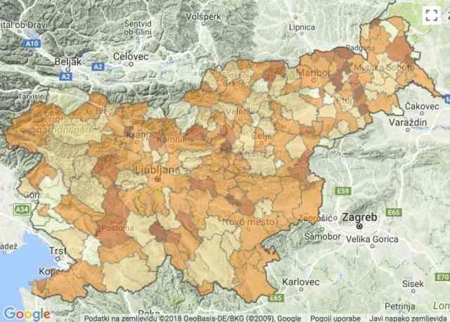 popularne lokacije porok slovenija mesta regije