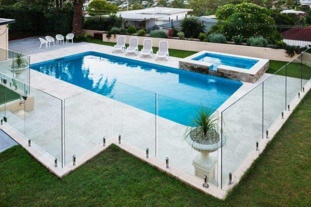 steklena ograja cene bazen