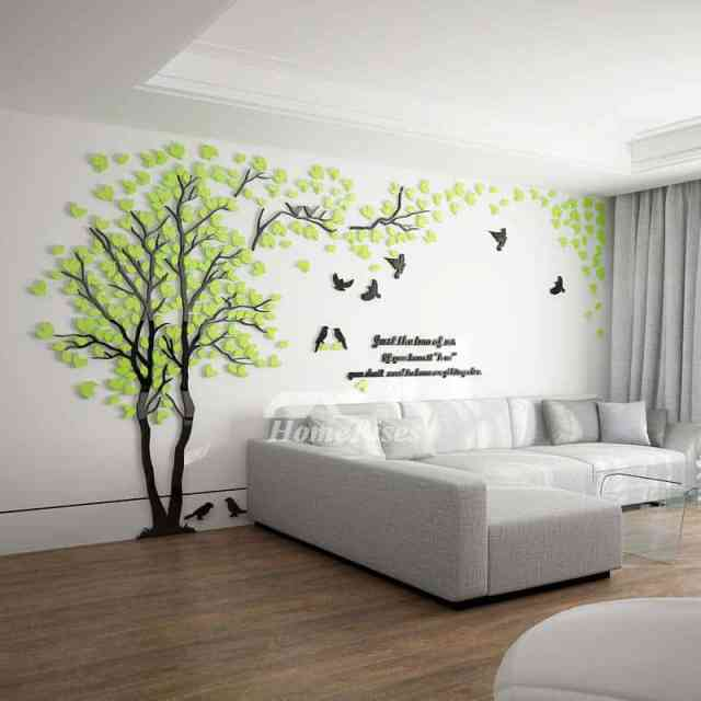 3D nalepka drevesa
