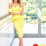 キャバドレスで黄色の着こなし方やコーデとは?おすすめのドレスとは?