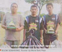 Boom Semarang Runner Up Murai Batu Raja Lomba Burung Piala HB X